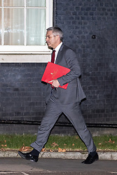 © Licensed to London News Pictures. 15/01/2019. London, UK. Brexit Secretary STEPHEN BARCLAY arrives at Downing Street after the vote . People gather in Westminster as Parliament decides whether to accept or reject British Prime Minister Theresa May's negotiated Brexit deal . Photo credit: Joel Goodman/LNP
