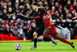 Angel Correa of Atletico Madrid - Mandatory by-line: Robbie Stephenson/JMP - 11/03/2020 - FOOTBALL - Anfield - Liverpool, England - Liverpool v Atletico Madrid - UEFA Champions League Round of 16, 2nd Leg