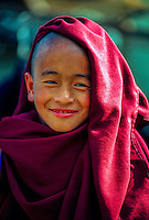 Novice monk, Rumtek Monastery (Yellow Hat Karmapa Sect, Buddhism), near Gangtok, Sikkim, India
