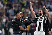 can - 09.05.2017 - Torino - Champions League Semifinale  -  Juventus-Monaco nella  foto: Gonzalo Higuain esulta a fine partita