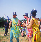Comedy coppers, at Glastonbury, 1989.