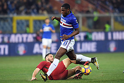 24.01.2018, Stadio Luigi Ferraris, Genua, ITA, Serie A, Sampdoria Genua vs AS Roma, 3. Runde, im Bild duvan zapata // duvan zapata during the Italian Serie A 3th round match between Sampdoria Genua and AS Roma at the Stadio Luigi Ferraris in Genua, Italy on 2018/01/24. EXPA Pictures &copy; 2018, PhotoCredit: EXPA/ laPresse/ Tano Pecoraro<br /> <br /> *****ATTENTION - for AUT, SUI, CRO, SLO only*****