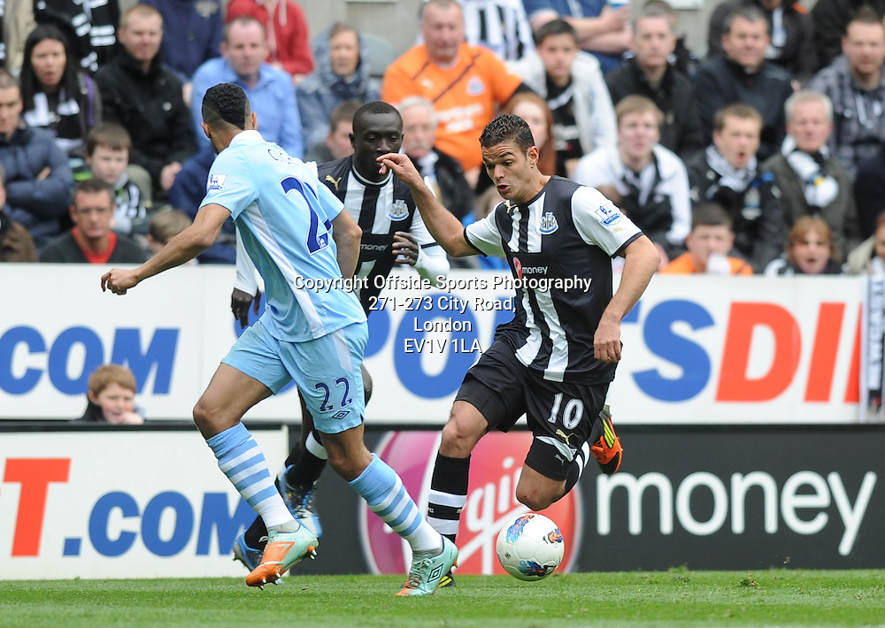 06/05/2012 - Barclays Premier League Football - 2011-2012 - Newcastle United v Manchester City - Hatem Ben Arfa attacks for Newcastle. - Photo: Charlie Crowhurst / Offside.