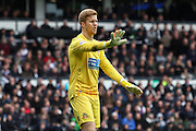 Bolton goalkeeper Ben Amos issues instrucitions during the Sky Bet Championship match between Derby County and Bolton Wanderers at the iPro Stadium, Derby, England on 9 April 2016. Photo by Aaron  Lupton.