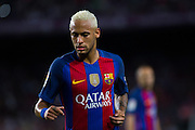 Neymar Jr run during the La Liga match between Barcelona and Atletico Madrid at Camp Nou, Barcelona, Spain on 21 September 2016. Photo by Eric Alonso.