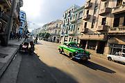Cuban People, Vintage Cars, Street Life & Building Architecture.Havana, Cuba.Central Havana District (Centro Habana)