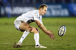 Nick Abendanon of Clermont Auvergne gathers the ball - Mandatory byline: Patrick Khachfe/JMP - 07966 386802 - 06/12/2019 - RUGBY UNION - The Recreation Ground - Bath, England - Bath Rugby v Clermont Auvergne - Heineken Champions Cup
