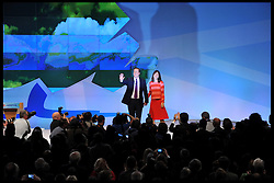 The Prime Minister David Cameron with his Wife Samantha after delivering his speech to the Conservative Party Conference in Manchester, Wednesday October 5, 2011. Photo By Andrew Parsons / i-Images.
