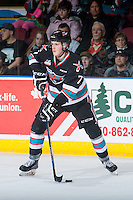 KELOWNA, CANADA - DECEMBER 5: Lucas Johansen #7 of Kelowna Rockets skates with the puck against the Portland Winterhawks on December 5, 2015 at Prospera Place in Kelowna, British Columbia, Canada.  (Photo by Marissa Baecker/Shoot the Breeze)  *** Local Caption *** Lucas Johansen;