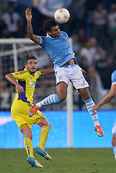 04.10.2012, Olympia Stadion, Rom, ITA, UEFA EL, Lazio Rom vs NK Maribor, im Bild Ederson Lazio // during UEFA Europaleague Match between Lazio Rom and NK Maribor at the Olympic Stadium, Roma on 2012/10/04. EXPA Pictures © 2012, PhotoCredit: EXPA/ Insidefoto/ Andrea Staccioli, ***** ATTENTION - for AUT, SLO, CRO, SRB, SUI and SWE only *****. EXPA Pictures © 2012, PhotoCredit: EXPA/ Insidefoto/ Andrea Staccioli..***** ATTENTION - for AUT, SLO, CRO, SRB, SUI and SWE only *****