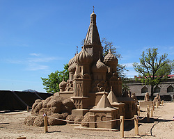 May 27, 2017 - Saint-Petersburg, Russia - Of The Russian Federation. Saint-Petersburg. Peter and Paul fortress beach. Sand sculpture festival ''Great Russia''. Discovery. (Credit Image: © Russian Look via ZUMA Wire)