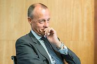 18 JUN 2018, BERLIN/GERMANY:<br /> Friedrich Merz, Vorsitzender des Aufsichtsrates BlackRock Asset Management Deutschland AG, Veranstaltung Wirtschaftsforum der SPD: &quot;Finanzplatz Deutschland 2030 - Vision, Strategie, Massnahmen!&quot;, Haus der Commerzbank<br /> IMAGE: 20180618-01-160