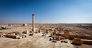 Palmyra seen from the Temple of the Standards (said to be location of the Palace of Zenobia) , Syria. Ancient city in the desert that fell into disuse after the 16th century.