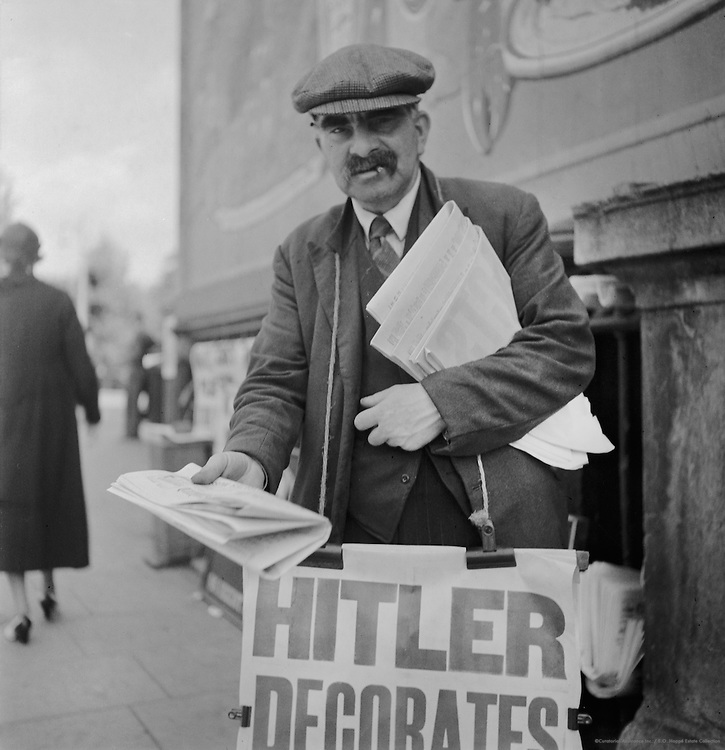 Newspaper Seller, London, 1937