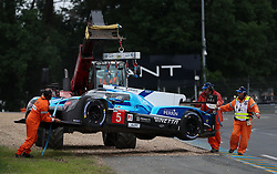 The Ginetta of Charles Roberston is extracted from the gravel