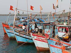 Fishing boats at Chapora Port, Goa