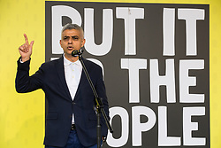 London, UK. 23rd March, 2019. Mayor of London Sadiq Khan addresses a million people taking part in a People's Vote rally in Parliament Square following a march from Park Lane.