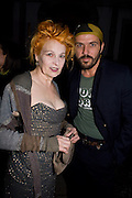 VIVIENNE WESTWOOD; ANDREAS KRONTHALER, Luomo Vogue 40th Anniversary dinner. Palazzo Litta. Milan. 22 June 2008 *** Local Caption *** -DO NOT ARCHIVE-© Copyright Photograph by Dafydd Jones. 248 Clapham Rd. London SW9 0PZ. Tel 0207 820 0771. www.dafjones.com.