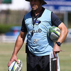 DURBAN, SOUTH AFRICA - JANUARY 19: Braam van Straaten of the Cell C Sharks during the Cell C Sharks training session at Growthpoint Kings Park on January 19, 2018 in Durban, South Africa. (Photo by Steve Haag/Gallo Images)