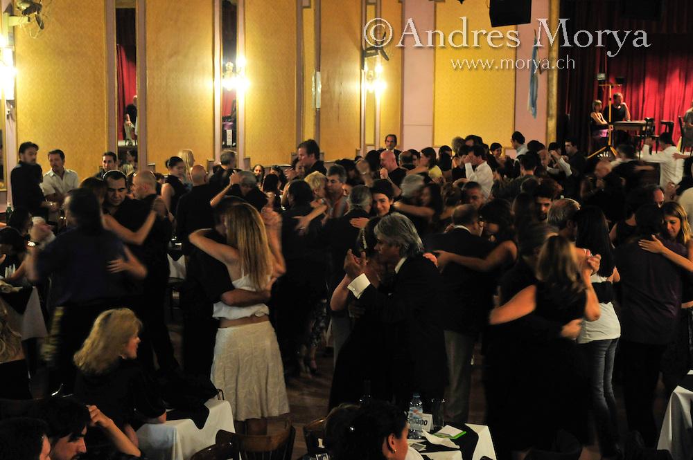 Tango Dancers in the Milonga Niño Bien, Buenos Aires, Argentina Image by Andres Morya
