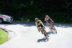 Romy Kasper (GER) and Kelly van den Steen (BEL) still have a gap on Stage 2 of 2019 Giro Rosa Iccrea, an 78.3 km road race starting and finishing in Viù, Italy on July 6, 2019. Photo by Sean Robinson/velofocus.com