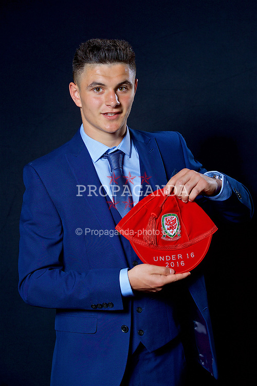 NEWPORT, WALES - Saturday, May 27, 2017: Steffan Bulkeley with his Under-16 Wales cap at the Celtic Manor Resort. (Pic by David Rawcliffe/Propaganda)