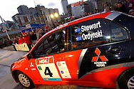 Ed Ordynski & Iain Stewart.Mitsubishi Lancer Evo VII.Motorsport-Rally.2003 NGK Rally of Melbourne.Yarra Valley, Victoria .5th of October 2003 .(C) Joel Strickland Photographics