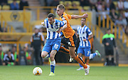 Brighton winger, Jamie Murphy breaks forward during the Sky Bet Championship match between Wolverhampton Wanderers and Brighton and Hove Albion at Molineux, Wolverhampton, England on 19 September 2015.