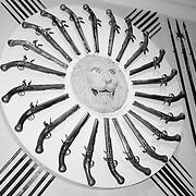 Tower Of London Armoury Pistol Display - London - Black & White