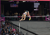 Athletics - 2017 IAAF London World Athletics Championships - Day One<br /> <br /> Event: Womens Pole Vault  Qualifying<br /> <br /> Liza Ryzih clears the bar <br /> <br /> <br /> COLORSPORT/DANIEL BEARHAM