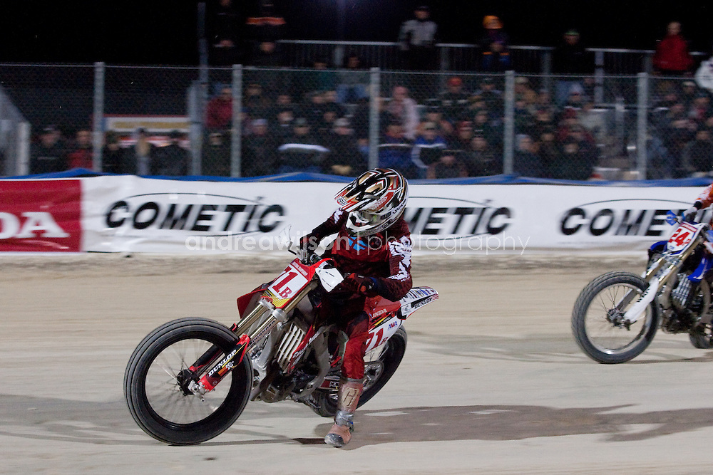 Daytona Short Track 1- AMA Pro Flat Track - Daytona International Speedway - Daytona Beach FL - Bike Week - March 3, 2010.:: Contact me for download access if you do not have a subscription with andrea wilson photography. ::  ..:: For anything other than editorial usage, releases are the responsibility of the end user and documentation will be required prior to file delivery ::..