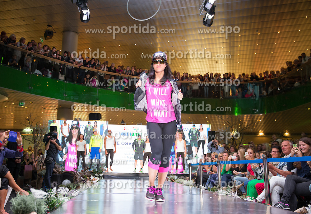 09.10.2015, Europapark, Salzburg, AUT, Praesentation der OeSV Winterkollektion,, im Bild Anna Fenninger // during Fashion Show of the Presentation of OeSV winter collection of Austrian Ski Federation OeSV at the Europapark in Salzburg, Austria on 2015/10/09. EXPA Pictures © 2015, PhotoCredit: EXPA/ Johann Groder