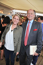 LAURA LOPES daughter of HRH The Duchess of Cornwall and her uncle SIMON PARKER BOWLES at a party to celebrate the publication on 'Let's Eat: Recipes From My Kitchen Notebook' by Tom Parker Bowles held at Selfridge's Rooftop. Selfridge's, Oxford Street, London on 27th June 2012.