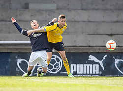 Raith Rovers Joe Cardle and Falkirk's Kieran Duffie..Raith Rovers 0 v 0 Falkirk, 27/4/2013..© Michael Schofield.
