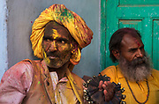 Holi in the town of Nandgaon, where India's spring festival is at is most boisterous.