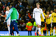 Leeds United forward Patrick Bamford (9) reacts at full time during the EFL Sky Bet Championship match between Leeds United and Millwall at Elland Road, Leeds, England on 28 January 2020.