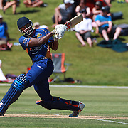 Dimitri Mascarenhas, Otago, hits out during the Otago Voltz V Wellington Firebirds HRV Cup match at the Queenstown Events Centre, Queenstown, New Zealand. 31st December 2011