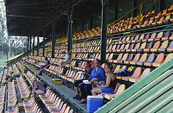 Johannesburg 19-12-18. South Africa Invitation XI vs Pakistan. Pakistan open their tour of South Africa with a three-day match at Sahara Willowmoore Park, Benoni. Day 1, a few  people in the grand stand watch the afternoon session.  Picture: Karen Sandison/African News Agency(ANA)