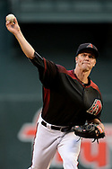 PHOENIX, AZ - APRIL 08:  Zack Greinke #21 of the Arizona Diamondbacks throws a warm up pitch prior to the first inning against the Cleveland Indians at Chase Field on April 8, 2017 in Phoenix, Arizona.  (Photo by Jennifer Stewart/Getty Images)
