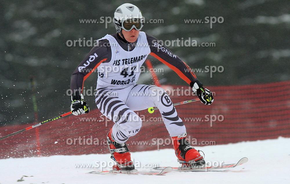 Benedikt Holzmann of Germany at FIS Telemark World Cup Kobla 2009 race,  on January 18, 2009, in Kobla, Bohinj, Slovenia.  (Photo by Vid Ponikvar / Sportida)