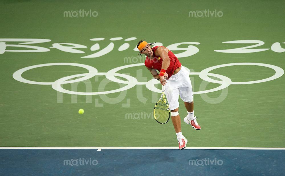 Olympia 2008  Peking   17.08.2008  Tennis Finale Herren Rafael NADAL (ESP).