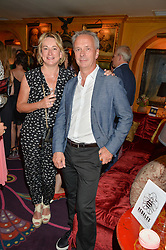 PETER & CLARE FINCHAM he is Director of Television for the ITV network at the Bedales Art & Design Party hosted by David Linley at Annabel's, 44 Berkeley Square, London on 30th June 2015.