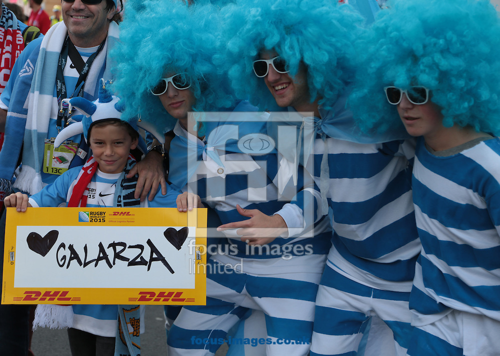 Argentina fans milling around before the 2015 Rugby World Cup match at Kingsholm Stadium , Gloucester<br /> Picture by Michael Whitefoot/Focus Images Ltd 07969 898192<br /> 25/09/2015