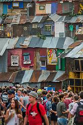 The Blues area. The 2015 Glastonbury Festival, Worthy Farm, Glastonbury.