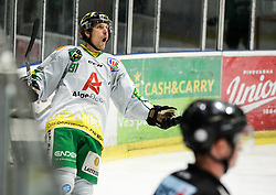 Martin Grabher Meier of Lustenau celebrates during Ice Hockey match between HK SZ Olimpija and EHC Alge Elastic Lustenau in Semifinal of Alps Hockey League 2018/19, on April 5, 2019, in Arena Tivoli, Ljubljana, Slovenia. Olimpija win the game and qualify to Final of AHL. Photo by Matic Klansek Velej / Sportida