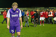 Harkemase Boys - Willem II KNVB Beker seizoen 2011-2012<br /> Niek Vossebelt zwaar teleurgesteld na de uitschakeling in de KNVB Beker tegen de Harkemase Boys<br /> Foto: Geert van Erven
