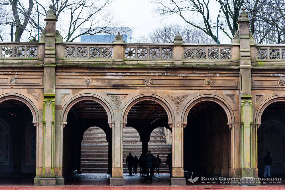 US, New York City. Bethesda Terrace in Central Park.