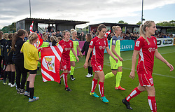 Bristol City Women and Liverpool Ladies players make their way on to the pitch at Stoke Gifford Stadium - Mandatory by-line: Paul Knight/JMP - 20/05/2017 - FOOTBALL - Stoke Gifford Stadium - Bristol, England - Bristol City Women v Liverpool Ladies - FA Women's Super League Spring Series