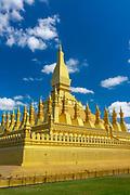 Pha That Luang Stuppa, Vientiane, Laos.