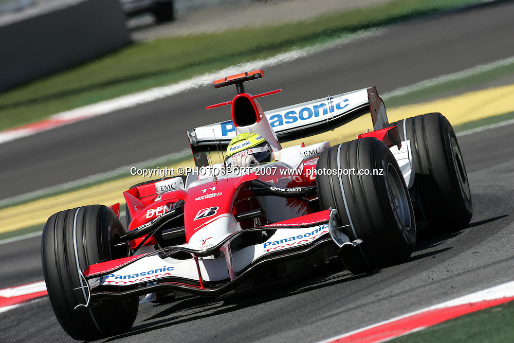 Toyota's Ralf Schumacher in action during the Spanish Grand Prix qualifying at Circuit de Catalunya, Barcelona, Spain on 12 May 2007. Photo: ATP/PHOTOSPORT  **NO AGENTS**<br /> <br /> 120507<br />  *** Local Caption ***